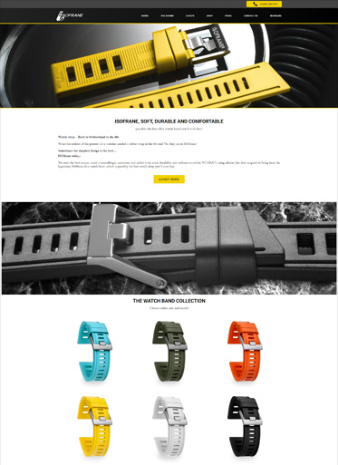 ISOfrane watch strap web design